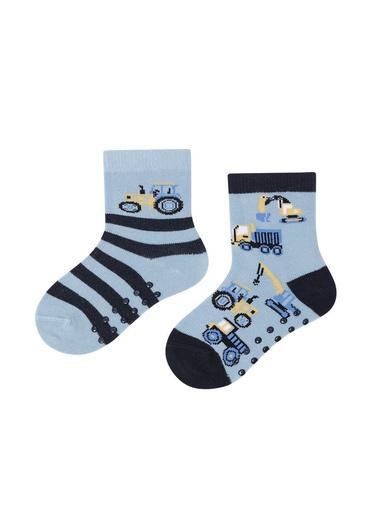 Katia & Bony Machine 2'Li Bebek Soket Çorap  Mavi